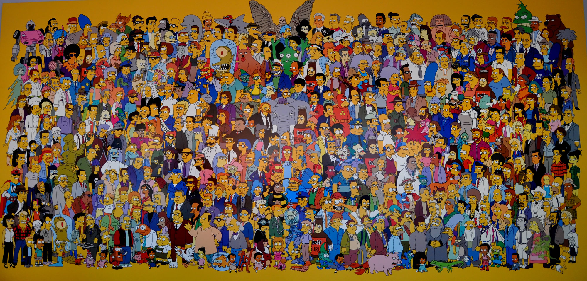 an analysis of the characters in the simpsons a television show